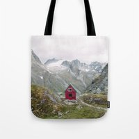 mint Tote Bags featuring Mint Hut by Kevin Russ