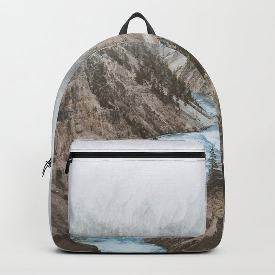 Mountain blue river Backpack
