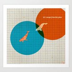 Fish Escapism Art Print
