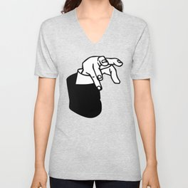 Andrew Yang Claw | Sucking Up Billions In Commerce Unisex V-Neck