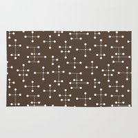 eames Area & Throw Rugs featuring Eames Era Dots 23 by Makanahele