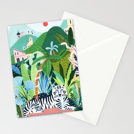 White Bengal Tiger Stationery Cards