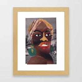 Nina Simone #PrideMonth Collage Portrait Framed Art Print