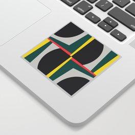 Modern Geometric 65 Green Sticker