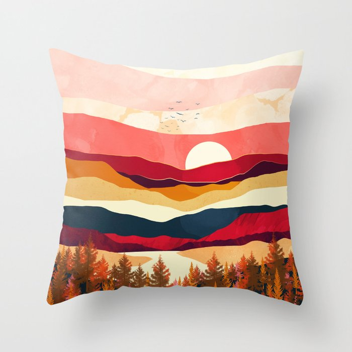 Scarlet Spring Throw Pillow