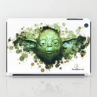 yoda iPad Cases featuring Yoda by Rene Alberto
