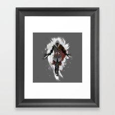 Assasins Grey Framed Art Print
