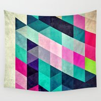 spires Wall Tapestries featuring Cyrvynne xyx by Spires