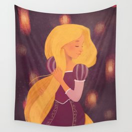 Rapunzel and lights Wall Tapestry