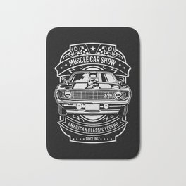 muscle car show american classic legend Bath Mat