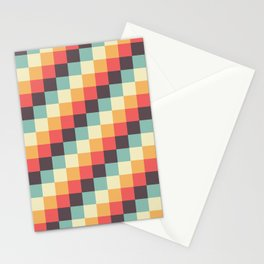 When dad was young - Pixel pattern in muted pastel colors Stationery Cards