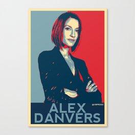 Alex Danvers POP ART Canvas Print