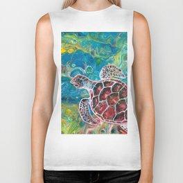 Sea Turtle Dream Biker Tank