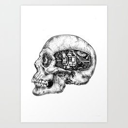 Skull - II Art Print