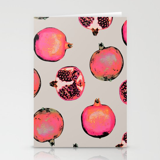 Pomegranate Pattern Stationery Cards