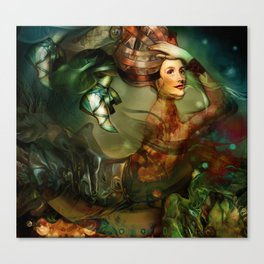 Caterpillar Girl Canvas Print