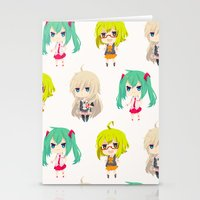 vocaloid Stationery Cards featuring Gumi/IA/Miku [Vocaloid Collection] by Eules