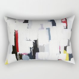 "No. 31 - Print of Original Acrylic Painting on canvas - 16"" x 20"" - (White and multi-color) Rectangular Pillow"