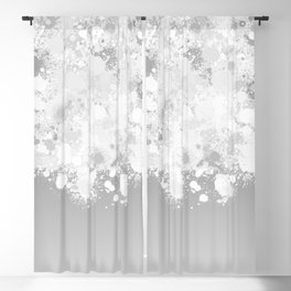 paint splatter on gradient pattern bwmbi Blackout Curtain