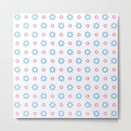 stars 118- blue and pink Metal Print
