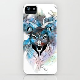 Deer- Blue iPhone Case