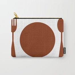 plate with cutlery Carry-All Pouch