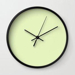 CITRINE pastel solid color  Wall Clock