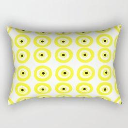 Summer Sunshine Evil Eye Lemon Yellow Rectangular Pillow