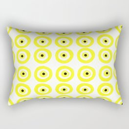 Summer Sunshine Evil Eye Lemon Yellow Rectangular Pillow