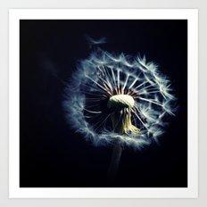 Dandelion In The Wind Art Print
