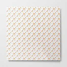 Mesozoic Extinction Event Pattern Metal Print