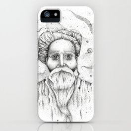 Aim for the moon, land in the stars iPhone Case