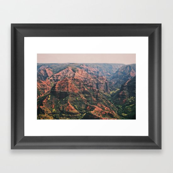 Vintage Hawaii Canyon Framed Art Print