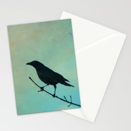 Spring Day And A Litle Crow Stationery Cards