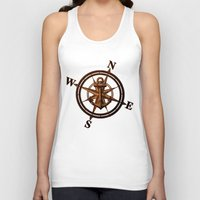 wooden Tank Tops featuring Wooden Anchor by Nicklas Gustafsson