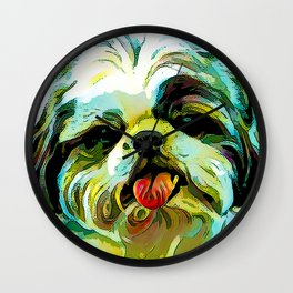 The SCHITZU from our POP YOUR POOCH line Wall Clock