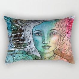 Floral Lady Rectangular Pillow