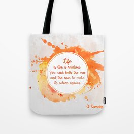 A. Ramaiya's quote Tote Bag