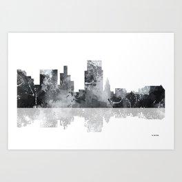 Boise, Idaho Skyline BG Art Print