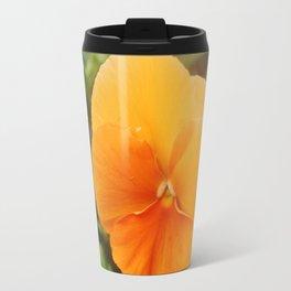 Orange Pansy Travel Mug
