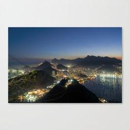 Rio de Janeiro by night Canvas Print