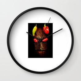 Copperhead mask_039 Wall Clock