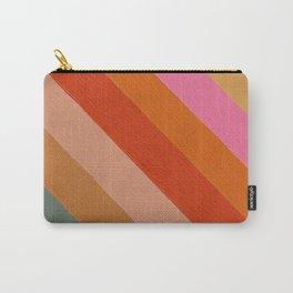 Diagonal Color Blocking – Retro Palette Carry-All Pouch