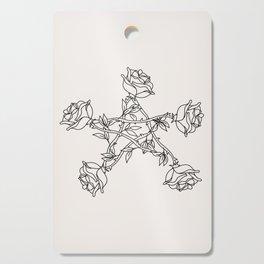 Rose Pentacle Cutting Board