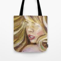 bad wolf Tote Bags featuring Bad Wolf by rointheta