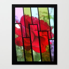 Red Rose Edges Tinted 1 Canvas Print