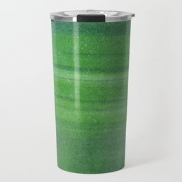 Abstract modern lime forest green stripes pattern Travel Mug