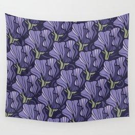 Purple Sweet Pea Pattern Wall Tapestry