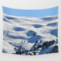 skiing Wall Tapestries featuring Back-Country Skiing - II by Alaskan Momma Bear
