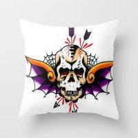 tatoo Throw Pillows featuring Tatoo ART 7 by The Greedy Fox